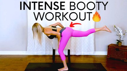 Intense  Booty Butt Lift Chair Workout at Home with Ambree