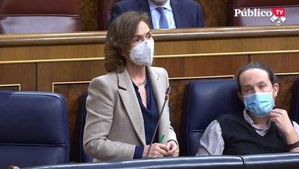 """Carmen Calvo, reprende a Vox por su machismo: """"Soy una mujer vicepresidenta"""""""