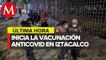 En Alcaldía Iztacalco, adultos mayores hacen largas filas para vacunarse contra covid-19
