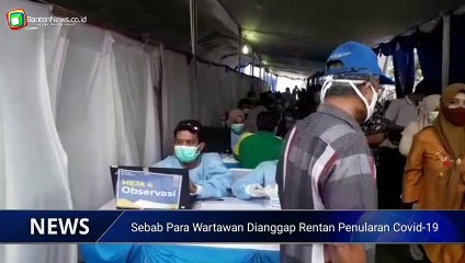 Jurnalis di Banten disuntik Vaksin Covid-19