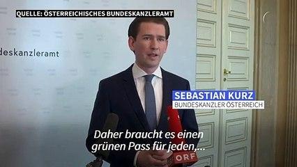 Österreichs Kanzler für EU-weiten Corona-Impfpass