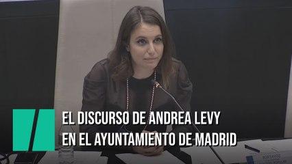 El discurso de Andrea Levy en el pleno del Ayuntamiento de Madrid