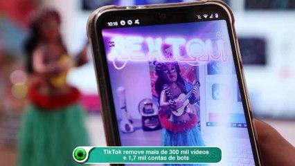 TikTok remove mais de 300 mil vídeos e 1,7 mil contas de bots