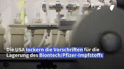 USA: Biontech/Pfizer-Impfstoff darf nun weniger kalt gelagert werden