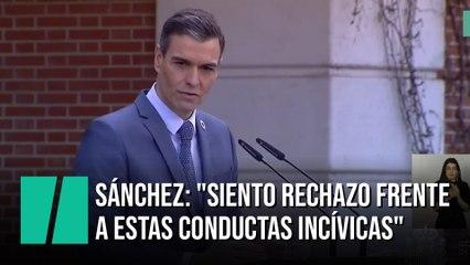 """Sánchez, sobre la regularización de Juan Carlos I: """"Siento rechazo frente a estas conductas incívicas"""""""
