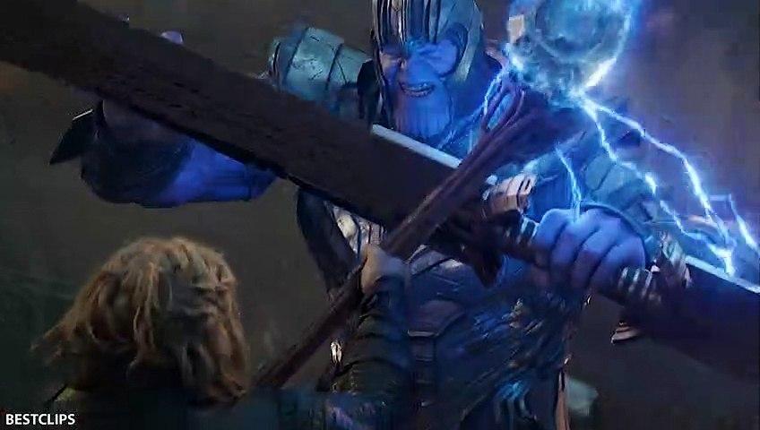 Captain America Vs Thanos - Fight Scene - AVENGERS 4 ENDGAME (2019)