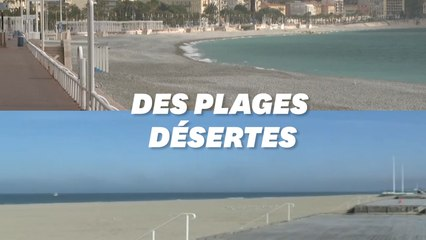 Les plages de Dunkerque et Nice désertées malgré le beau temps