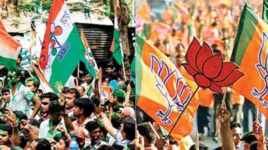 Bengal polls: Puja, yatra and slogan war between BJP and TMC