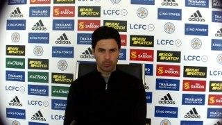 Arteta reaction to Arsenal 3-1 win at Leicester