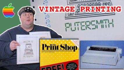 Printing Banners on Vintage Apple ImageWriter II  | 'Puter Smith