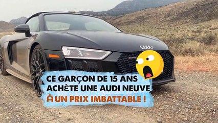 Ce garçon de 15 ans achète une Audi neuve à un prix imbattable ! (Texte en description)