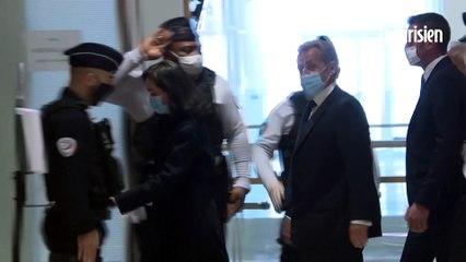 """Affaire des """"écoutes"""": Nicolas Sarkozy arrive au tribunal pour connaître le jugement"""