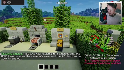 ✔️ Working SECURITY CAMERA in Minecraft!