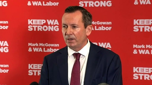 Premier Mark McGowan casts his ballot early in Rockingham