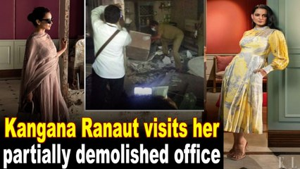 Kangana's 'heart broke again' on visiting partially demolished office