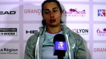 """WTA - Lyon 2021 - Caroline Garcia : """"On espère que ça va réussir aux Françaises... """""""