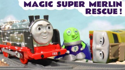 Thomas and Friends Merlin the Magic Superhero with DC Comics Batman and Marvel Avengers Ultron in this Family Friendly Full Episode English Toy Story for Kids from a Kid Friendly Family Channel