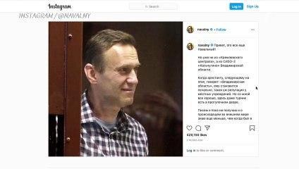 Da prisão, Navalny publica que está 'bem'