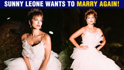 Sunny Leone Says 'MARRY ME' Dresses Up As A Bride