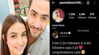 Bigg Boss 14: Jasmin के इंस्टाग्राम पर हुए 4 मिलियन से ज्यादा Followers, Aly ने दी बधाई|FilmiBeat