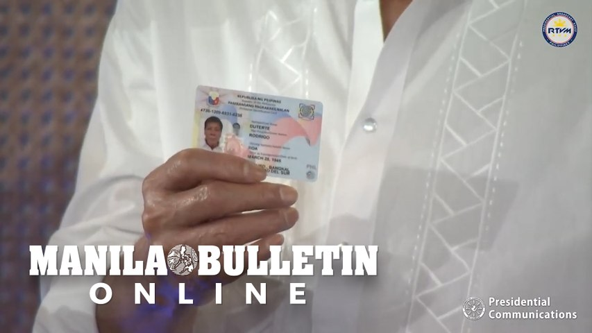 Personal delivery: Duterte gets new national ID from NEDA chief Chua
