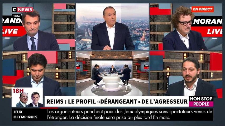 """Violent accrochage ce matin dans """"Morandini Live"""" sur CNews autour du jeune Algérien multirécidiviste qui a attaqué le journaliste à Reims: Faut-il expulser ? - VIDEO"""
