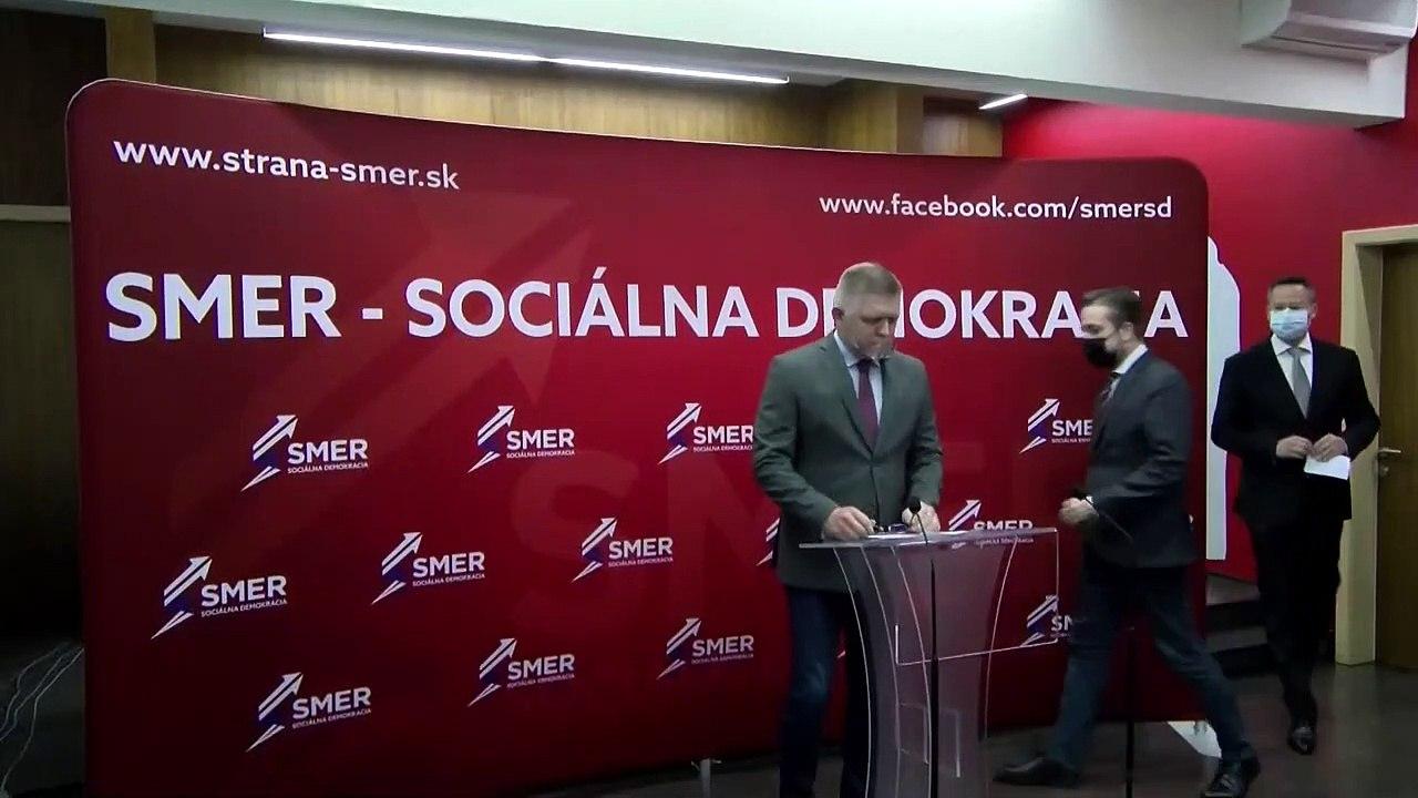ZÁZNAM:TK predsedu Roberta Fica a podpredsedov strany Smer k aktuálnej politickej situácii
