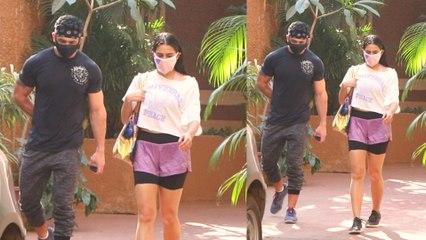 Bollywood actress Sara Ali Khan Snapped at Gym Bandra | FilmiBeat