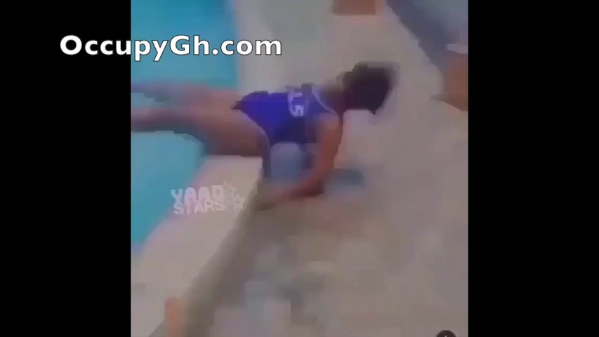 Slay Queen Almost Falls To Her Death By The Pool Side Trying Silly Stunt