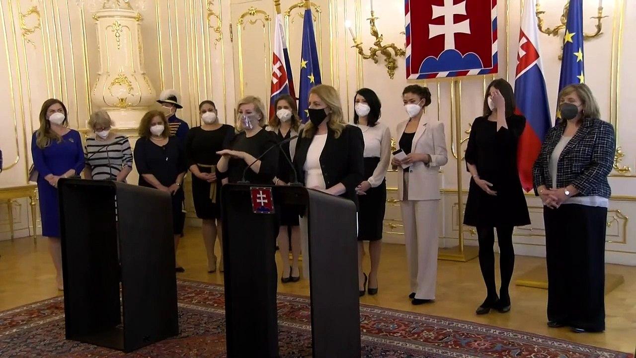 ZÁZNAM: Vyjadrenie prezidentky SR Zuzany Čaputovej - Dosahy pandémie na život žien