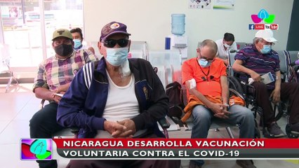 Nicaragua continúa con la vacunación voluntaria contra el Covid-19 en el Hospital Militar