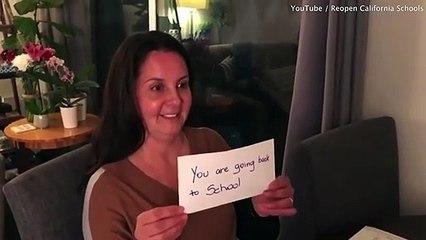 Cô bé bật khóc vui mừng vì được đi học lại