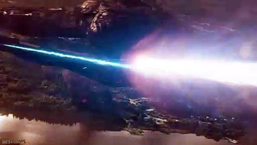Captain Marvel Destroys Thanos Ship Scene - AVENGERS 4 ENDGAME (2019)
