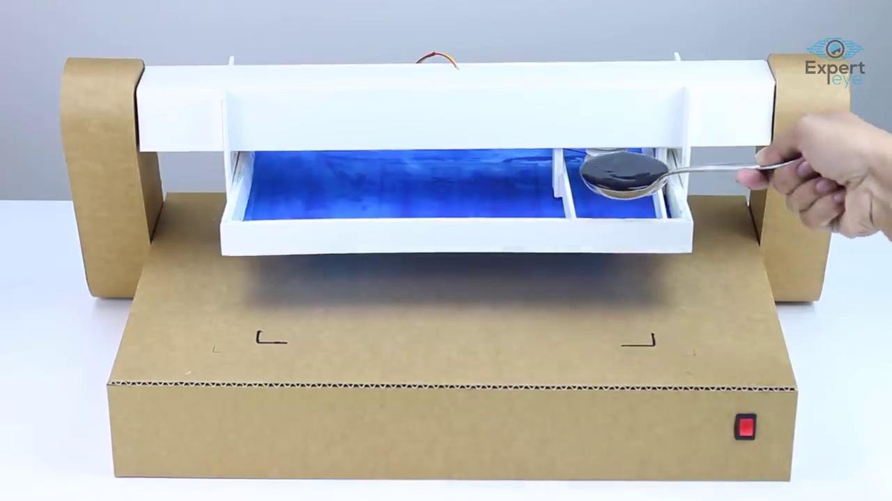 How to make a auto mug printing machine from cardboard at home  !  DIY Printing Machine