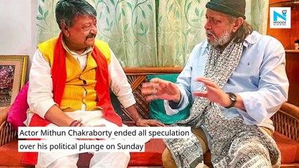 Actor Mithun Chakraborty joins BJP ahead of PM Modi's Kolkata rally