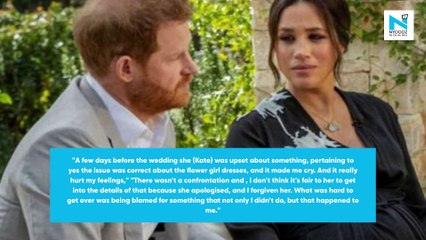Meghan Markle says Kate Middleton made her cry before her wedding