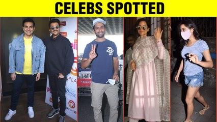 Sara Ali Khan At Salon, Anil Kapoor With Arbaaz Khan, Kangana, Vicky | Stars Spotted