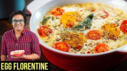 Women's Day Special - Eggs Florentine Recipe | How to make Baked Eggs in Microwave | Varun Inamdar