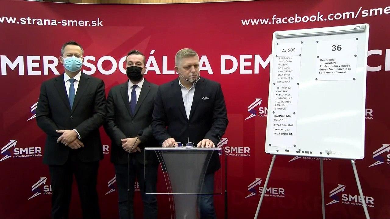 ZÁZNAM: TK predstaviteľov strany SMER - SD