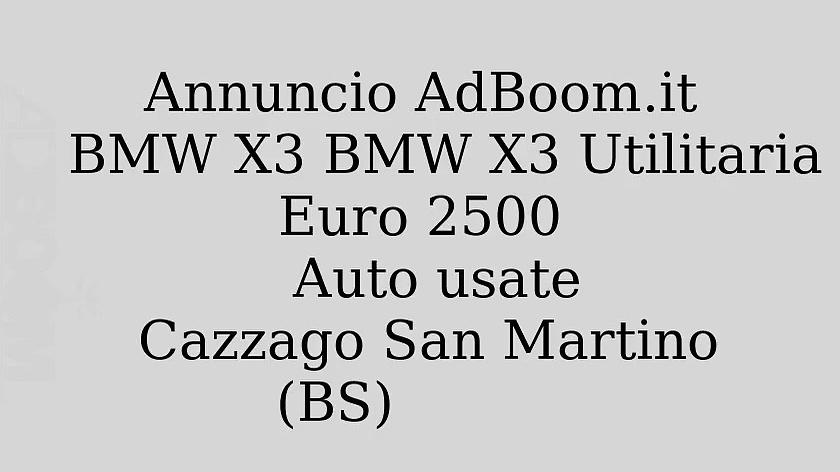 BMW X3 BMW X3 Utilitaria