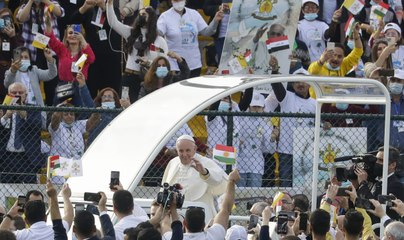 'Salam, salam, salam': thousands attend Pope's mass at Irbil stadium