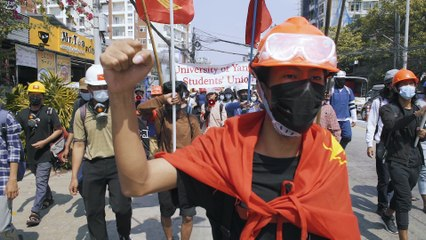 On the frontline of Myanmar's coup protests: 'We don't accept this dictatorship'