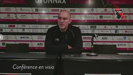 conference de presse avant  biarritz - oyonnax