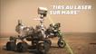 Ecoutez le son des tirs du laser de la sonde Perseverance sur Mars