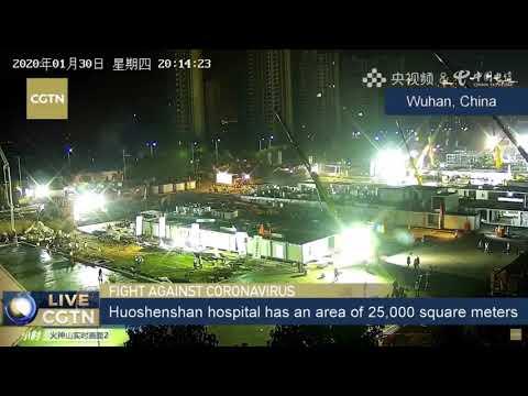 Construcción del hospital de Wuhan para luchar contra el coronavirus