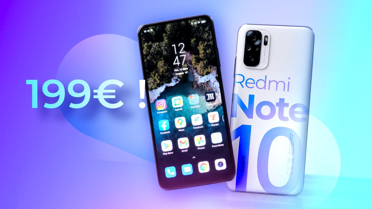 Voici le MEILLEUR SMARTPHONE à moins de 200€ ! (Xiaomi Redmi Note 10)