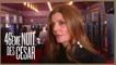 Chiara Mastroianni s'est échappée d'une répétition de théâtre pour venir aux César 2021