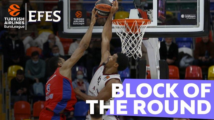 Efes Block of the Round: Kyle Hines, AX Armani Exchange Milan