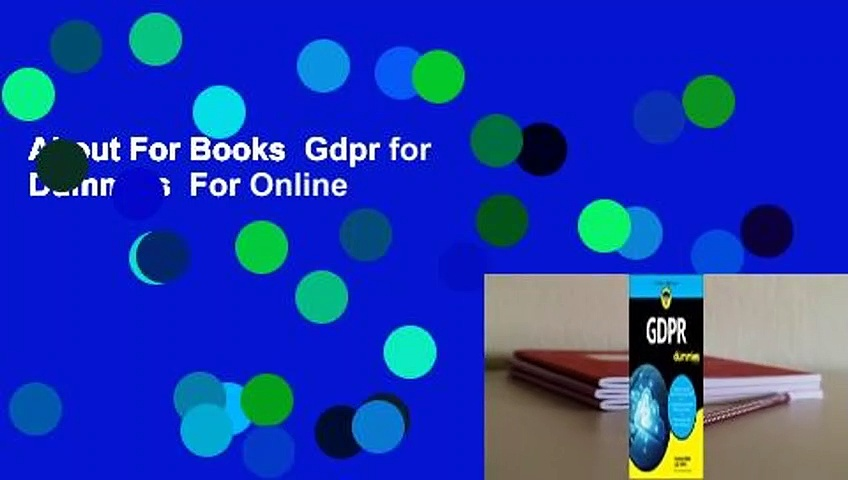About For Books  Gdpr for Dummies  For Online