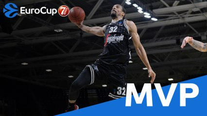 Top 16 MVP: Vince Hunter, Virtus Segafredo Bologna